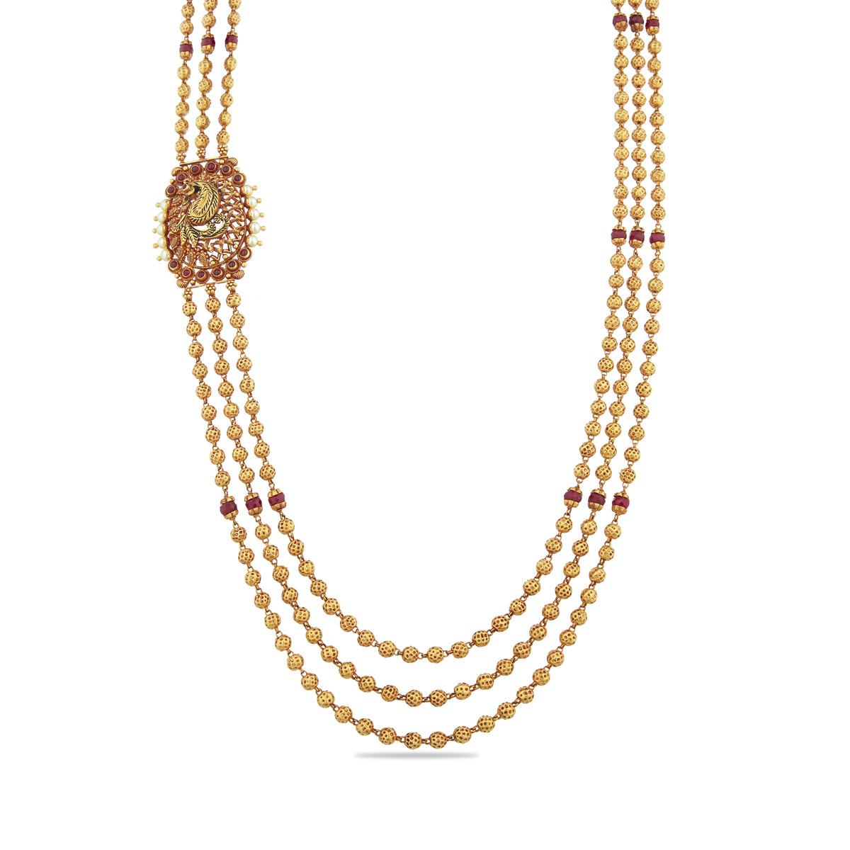 Tri-layered Mugappu Necklace