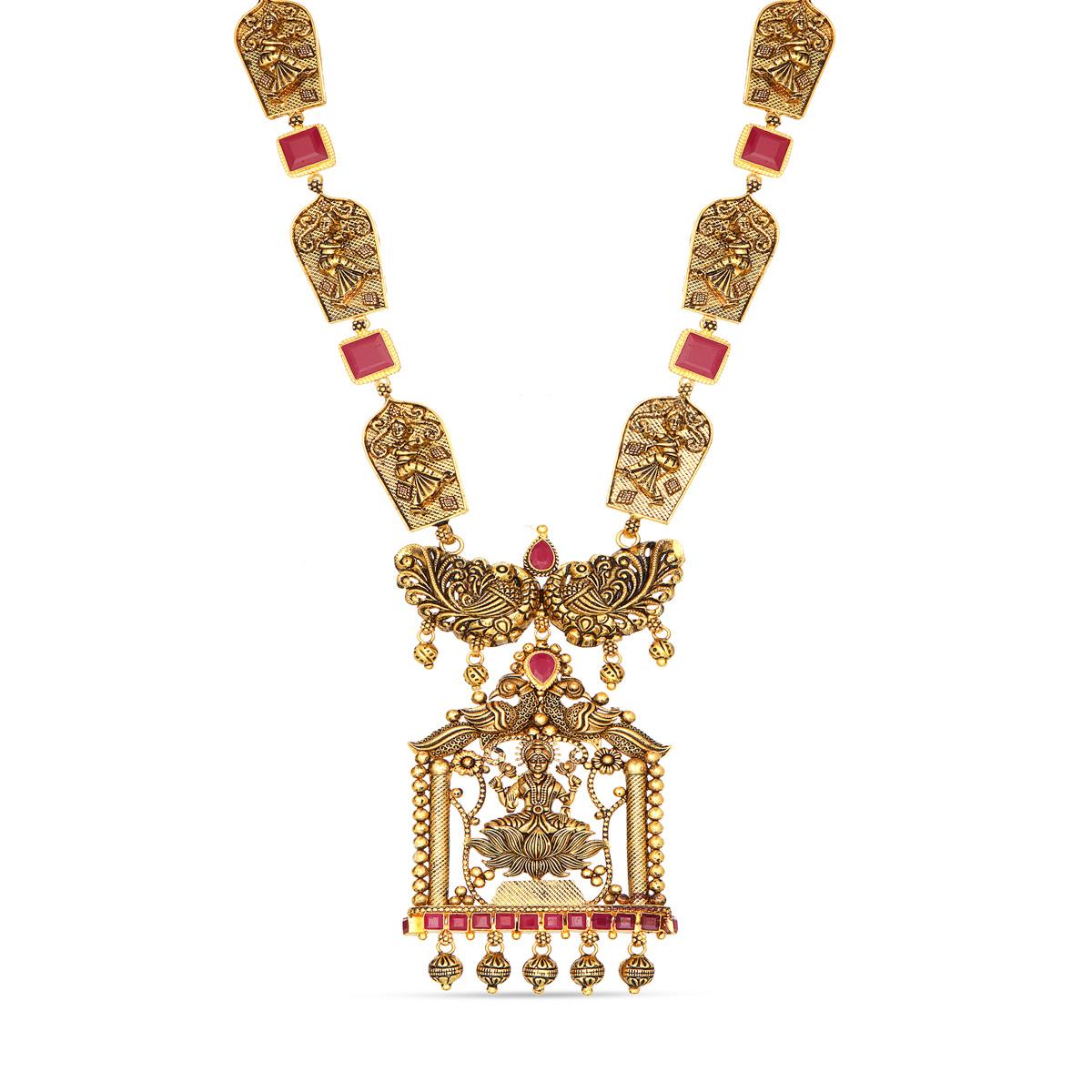 Divine Temple Lakshmi Necklace