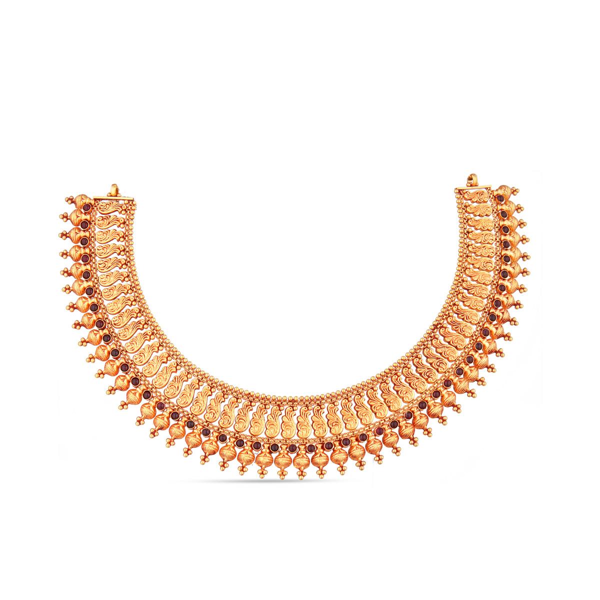 Gold Sleek Paisley Choker