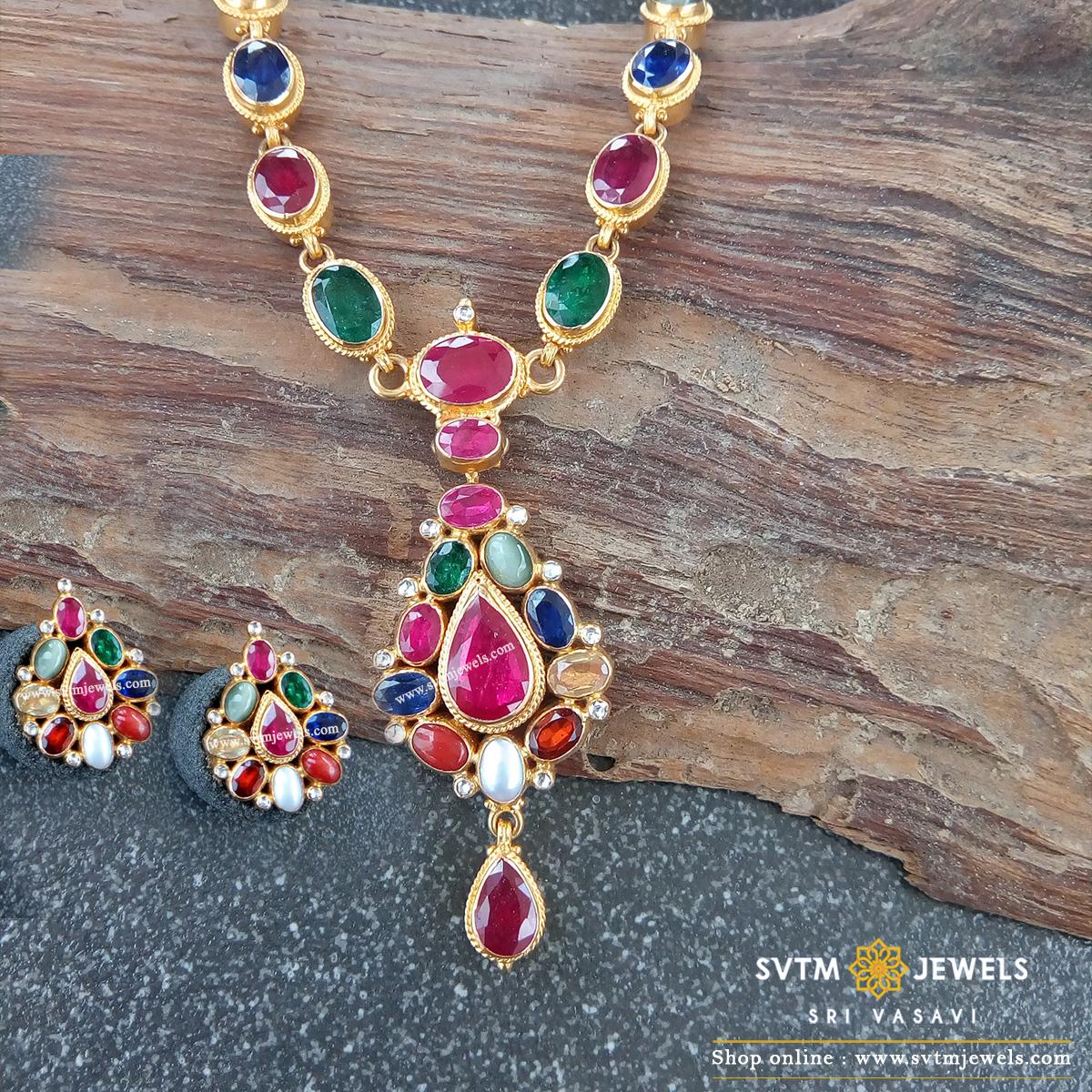 charming Navarathna Necklace