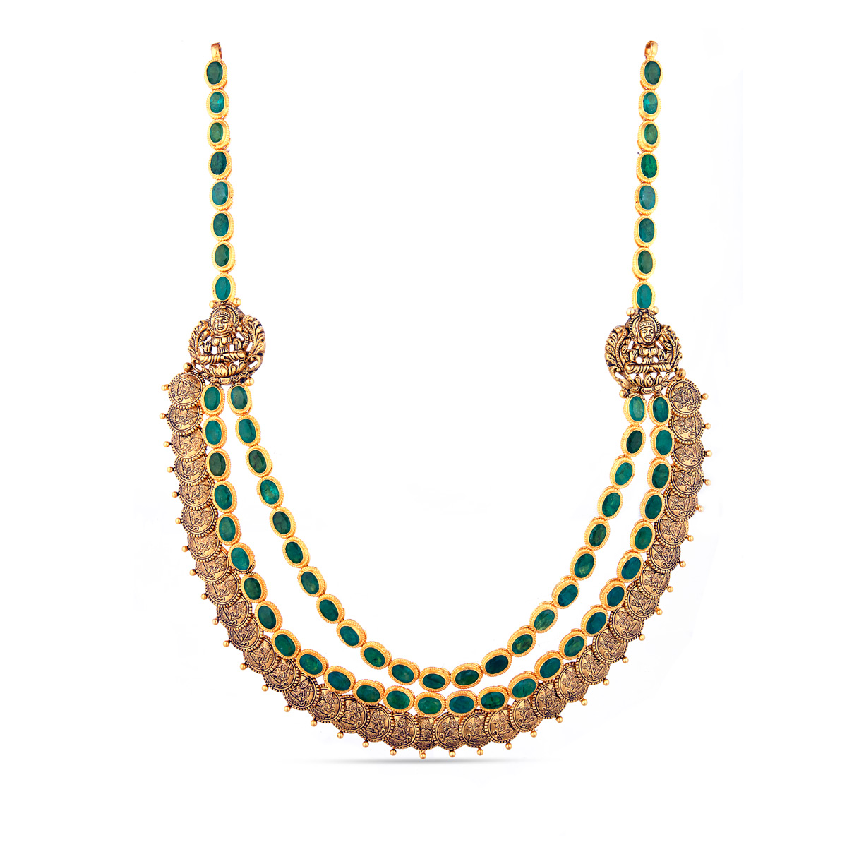 Double Strand Emerald necklace