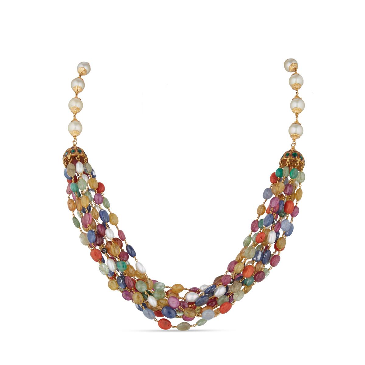 Navaratna Pearl Necklace