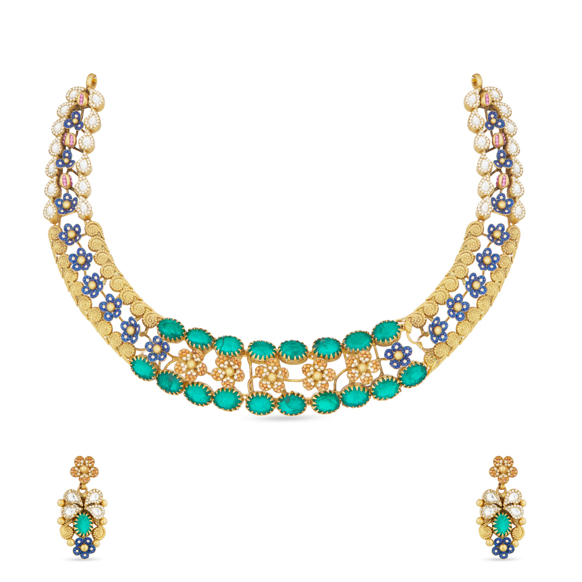 Livia Green Necklace Set