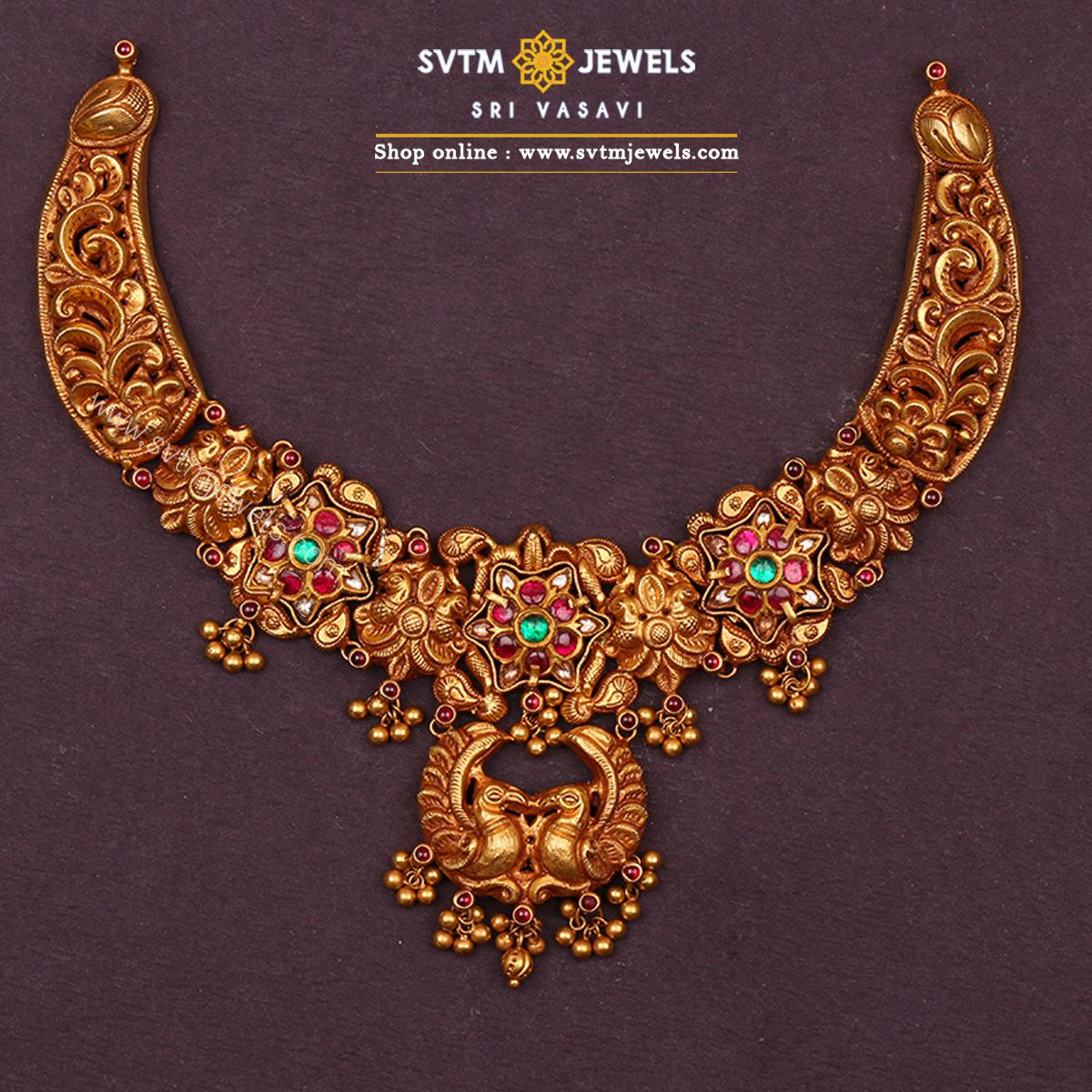 Ajita Peacock Short Necklace