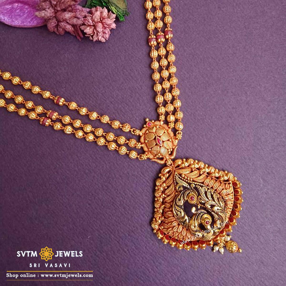 Enhancing Mayura necklace