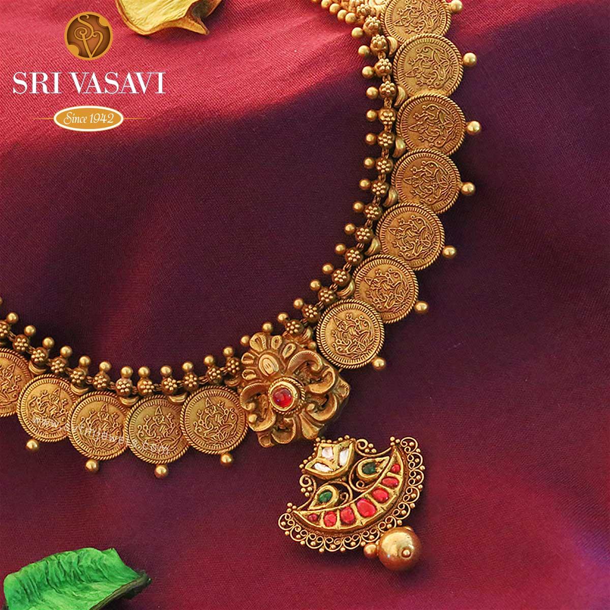 Indian Gold Necklace Online 22k Gold Necklace Set Online 22k