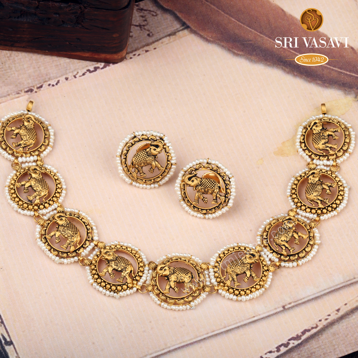 Mammoth Gold Necklace set
