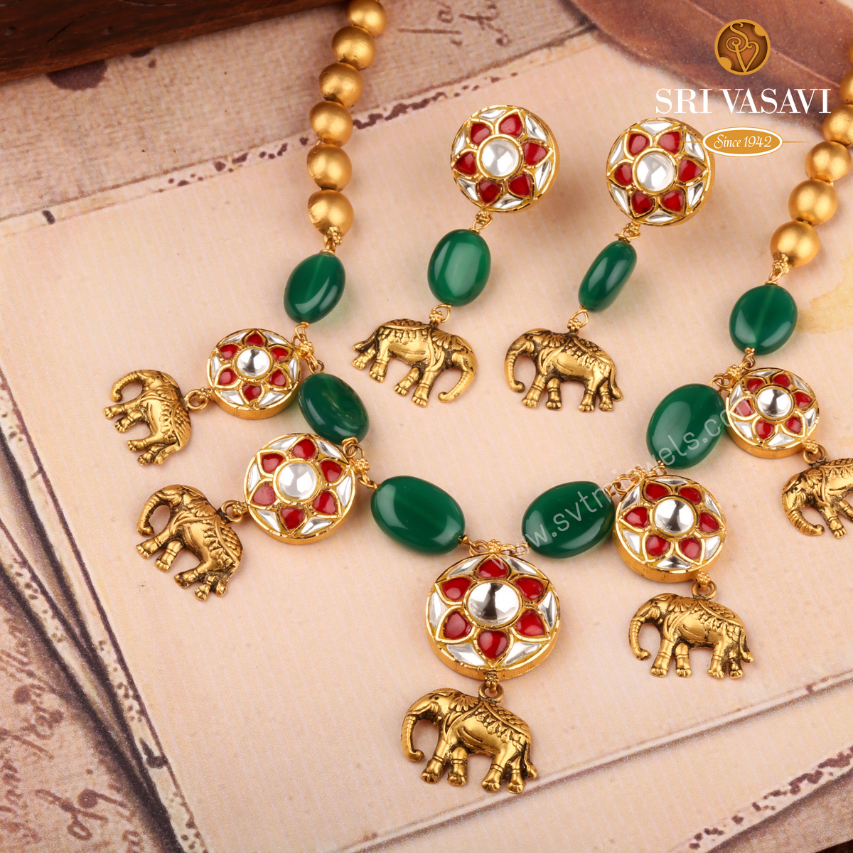 Tusker Necklace Set