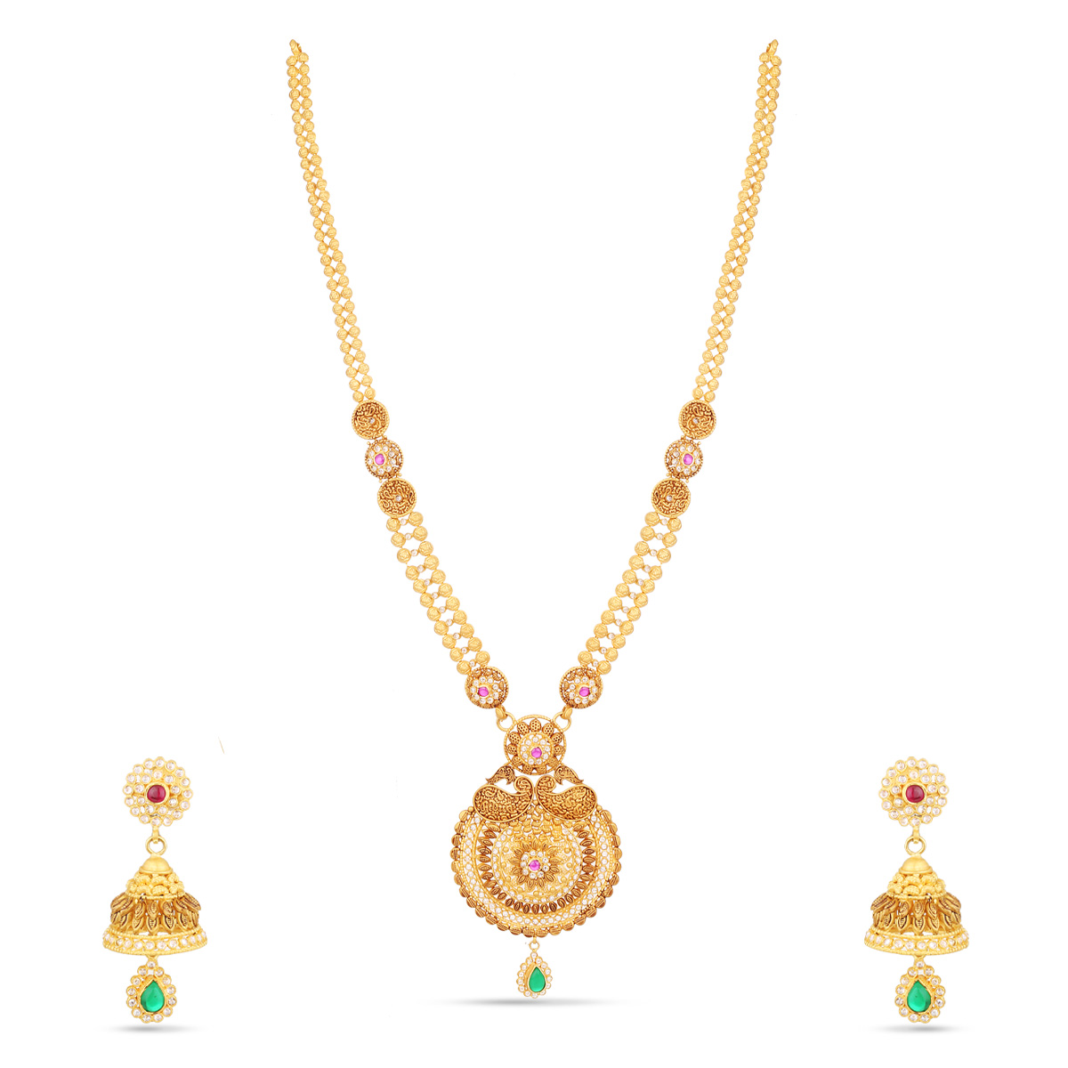 Mangle Long Necklace Set