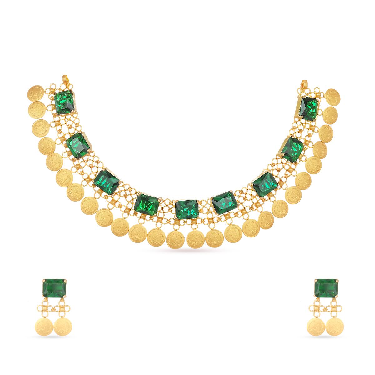 The Padmavat Antique Necklace Set