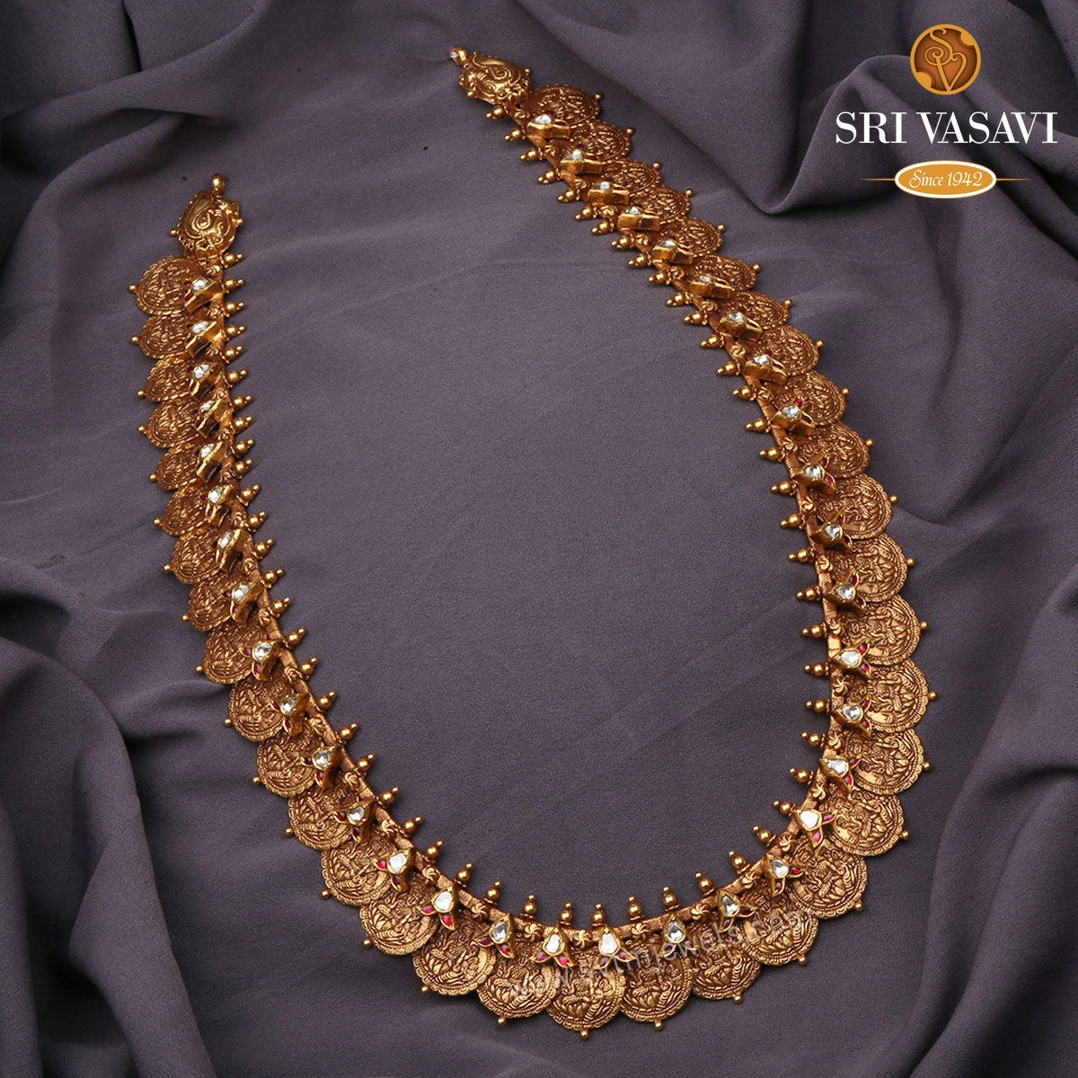 Kanti Antique Kaasu Necklace
