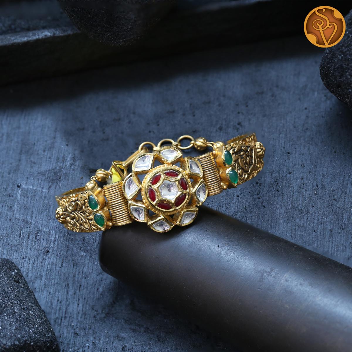 Akshara Kundan Bracelet