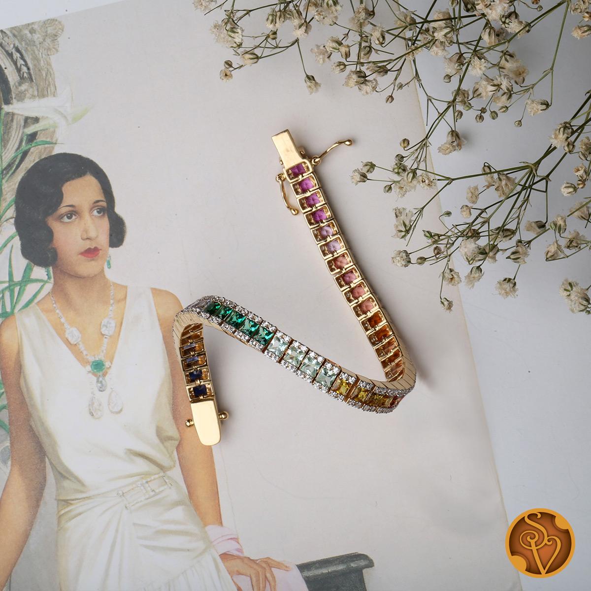 Compacting Colourful Bracelet