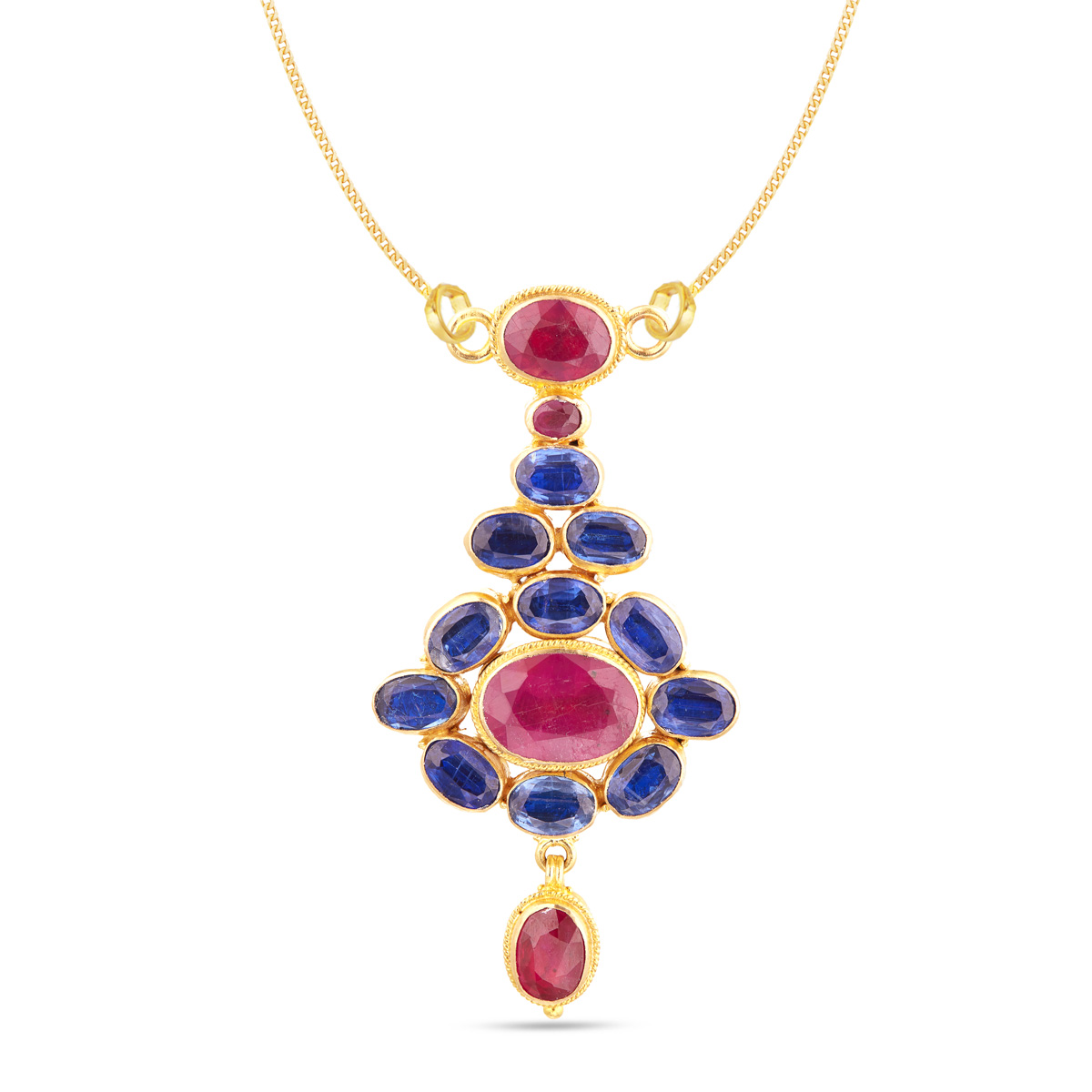 Blue Sapphire&Ruby Pendant
