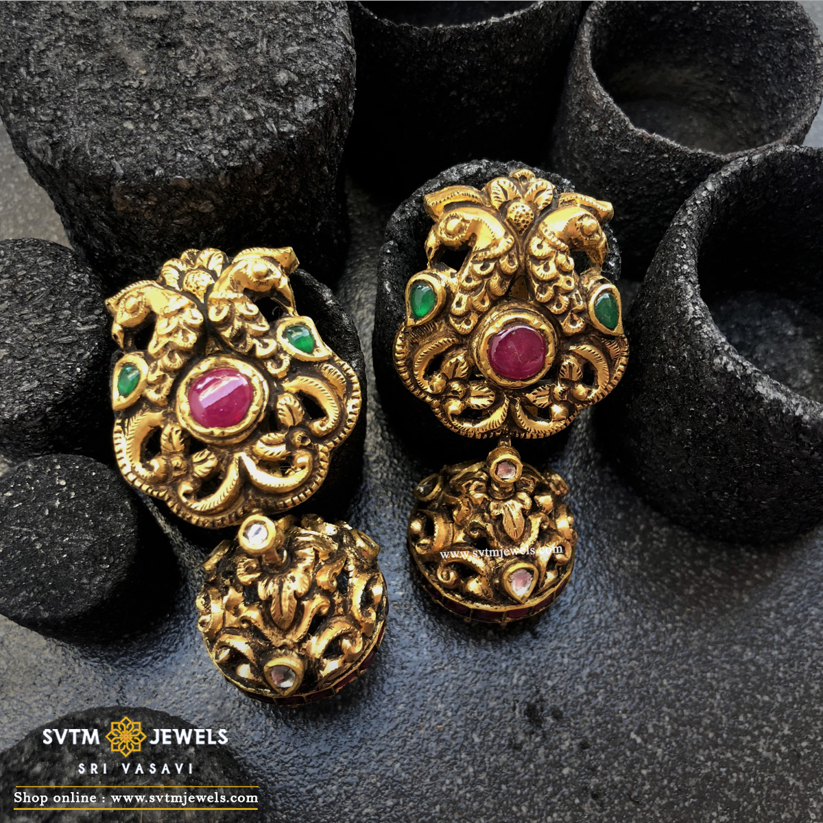 Antique Mayur Jhumka