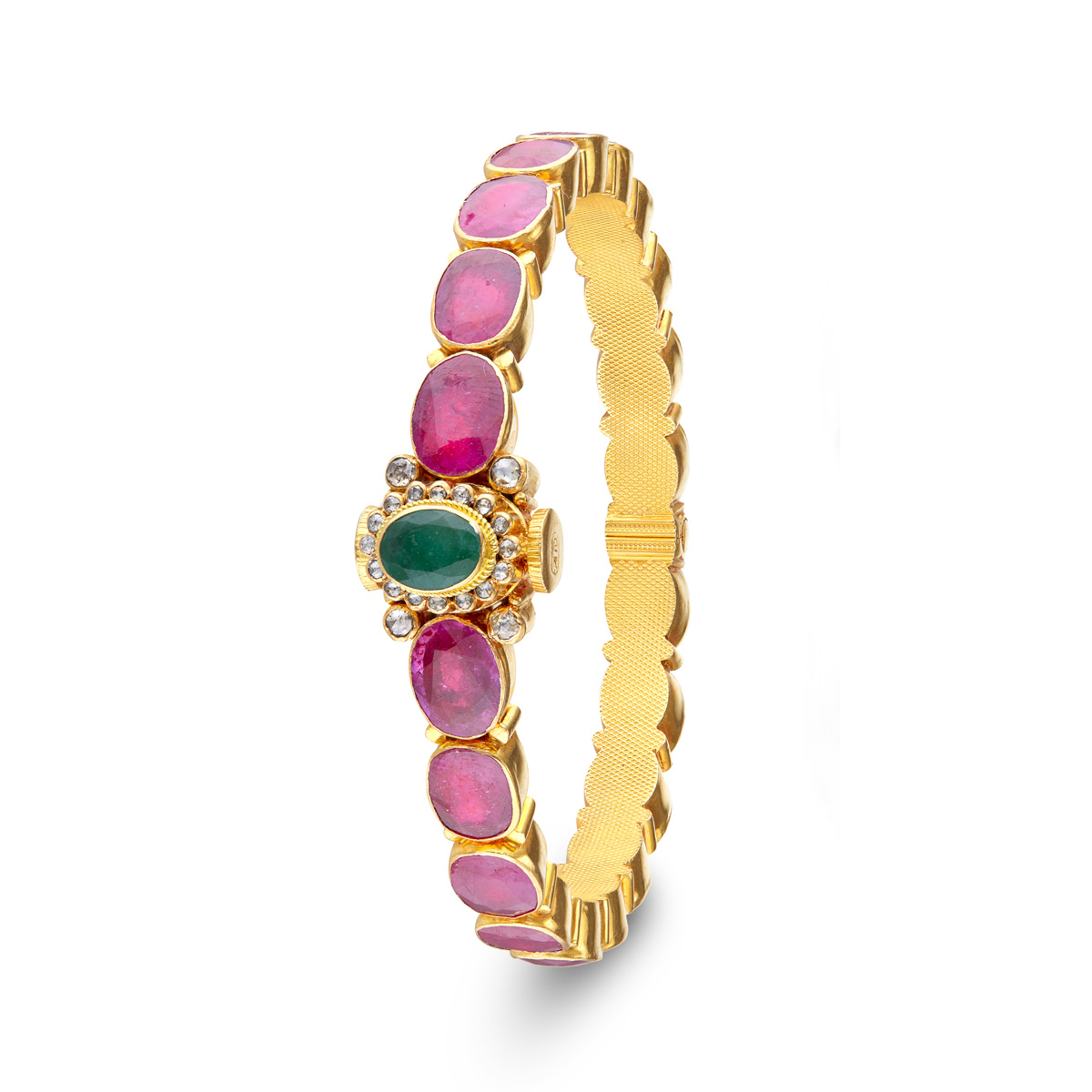 Oval Emerald&Rubies!