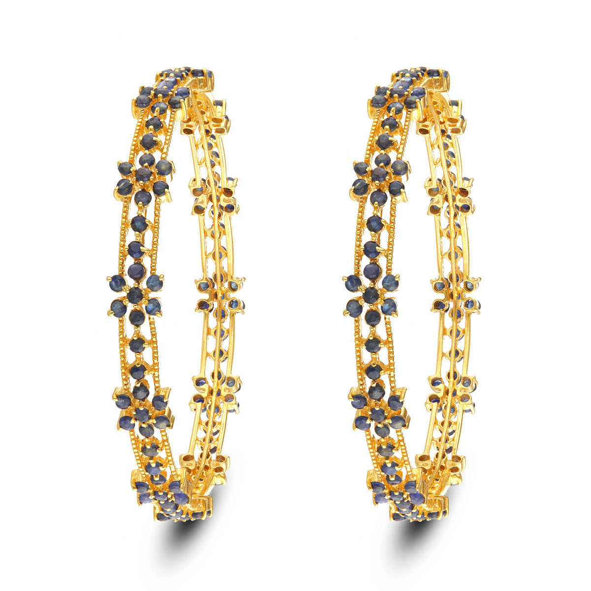 Gold Bangle With Blue Sapphire!