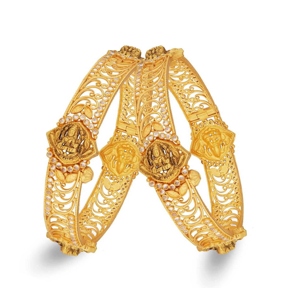 Divine Lakshmi Gold Bangles