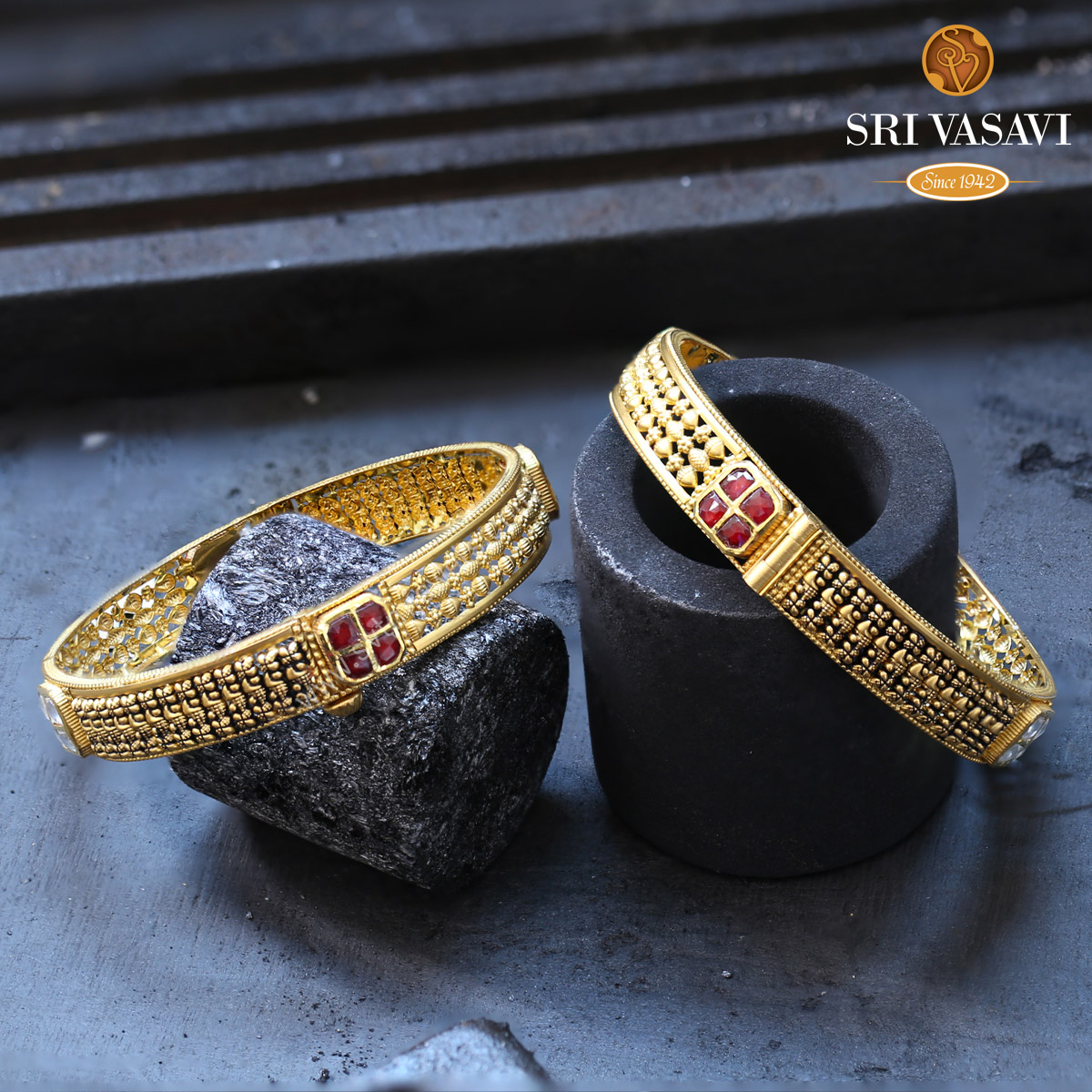 Archaize Pair Bangles