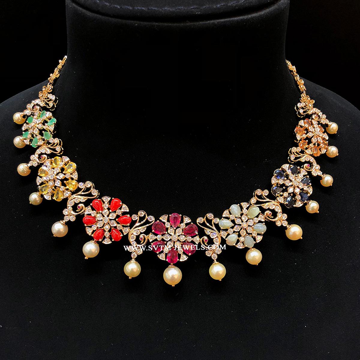 Multi-coloured Navaratna Necklace