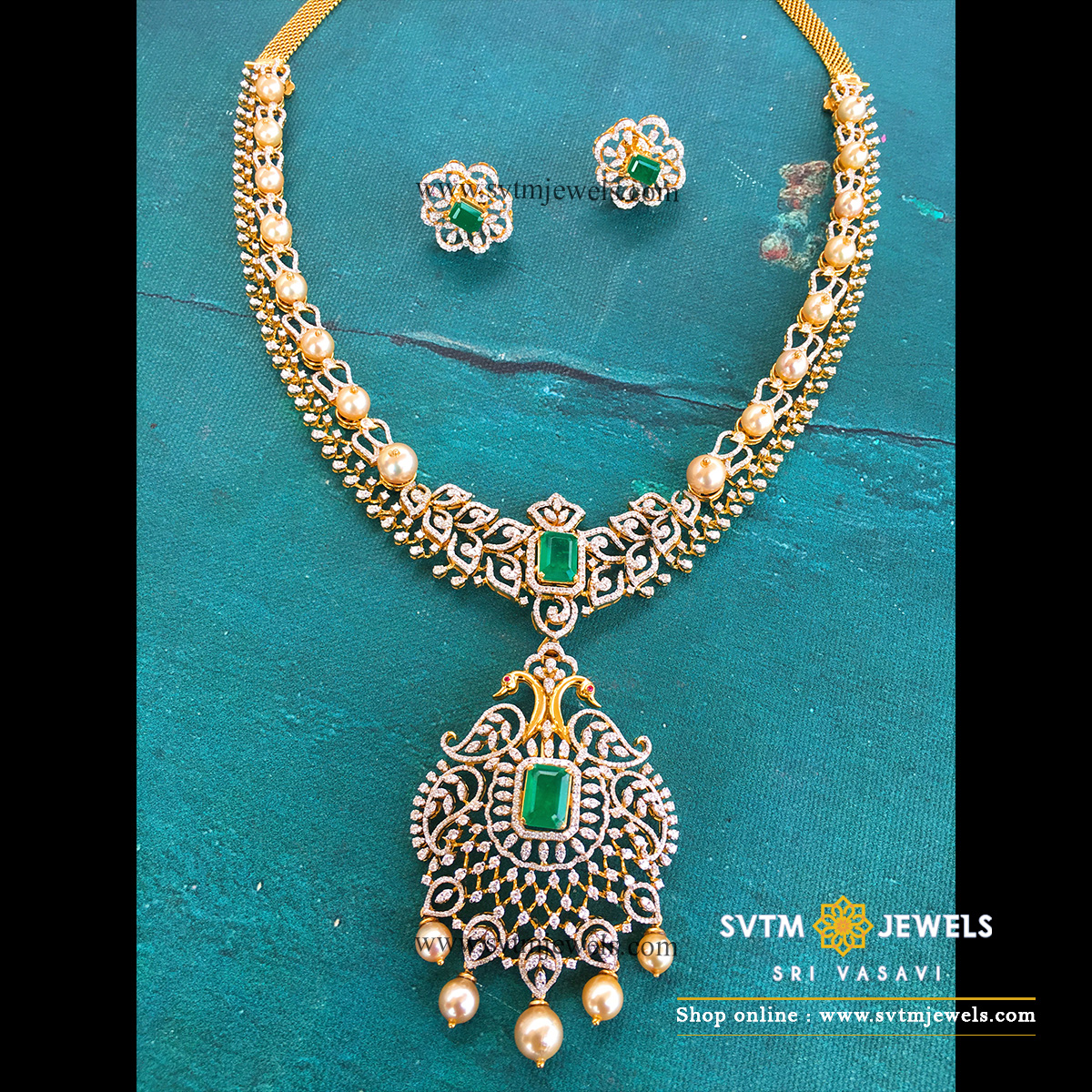 Stunning Mayur Diamond Necklace