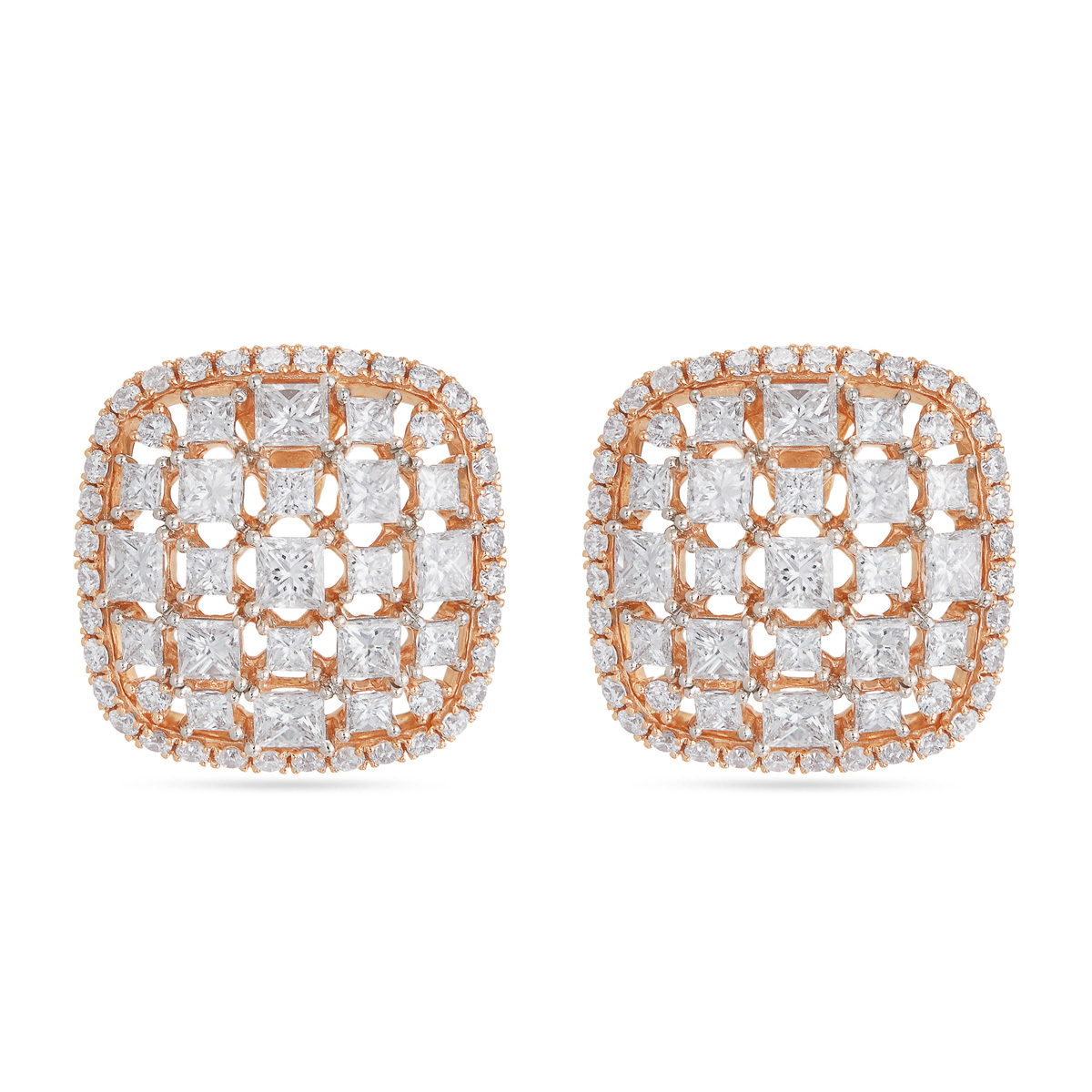 Fair and Square Diamond Stud