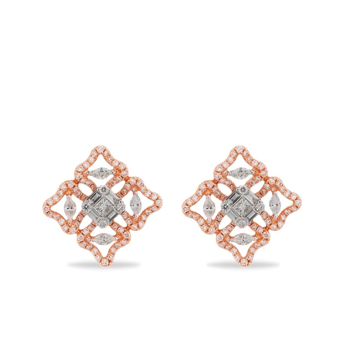 Stunning Cluster Diamond Earrings