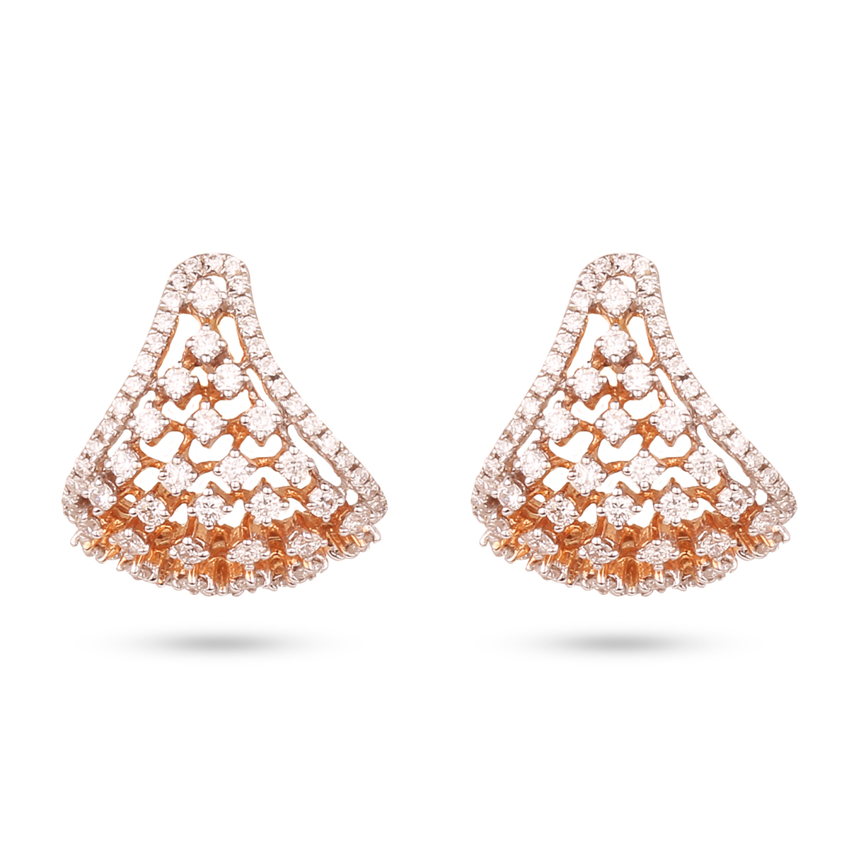 Curvy Diamond Earrings