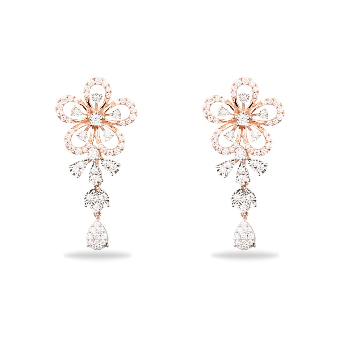 Engrave Diamond Earrings