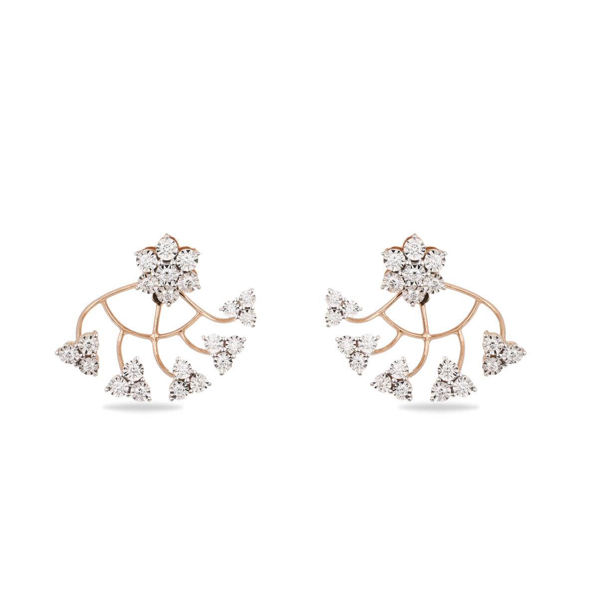 Rock candy Diamond Earrings