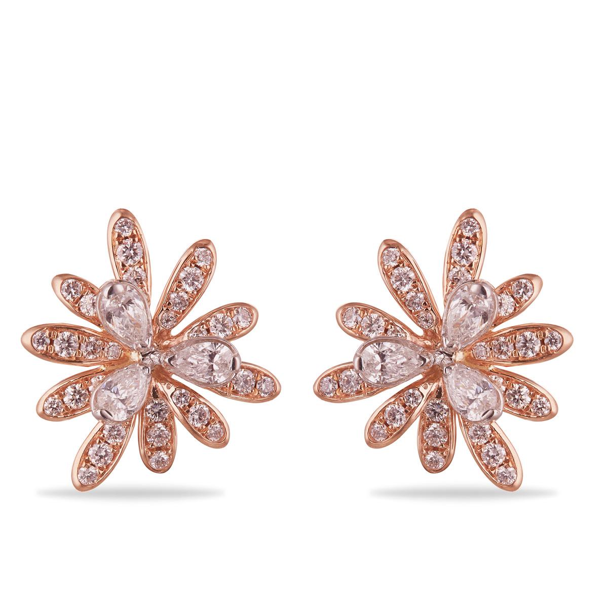 Brushed Floral Earrings