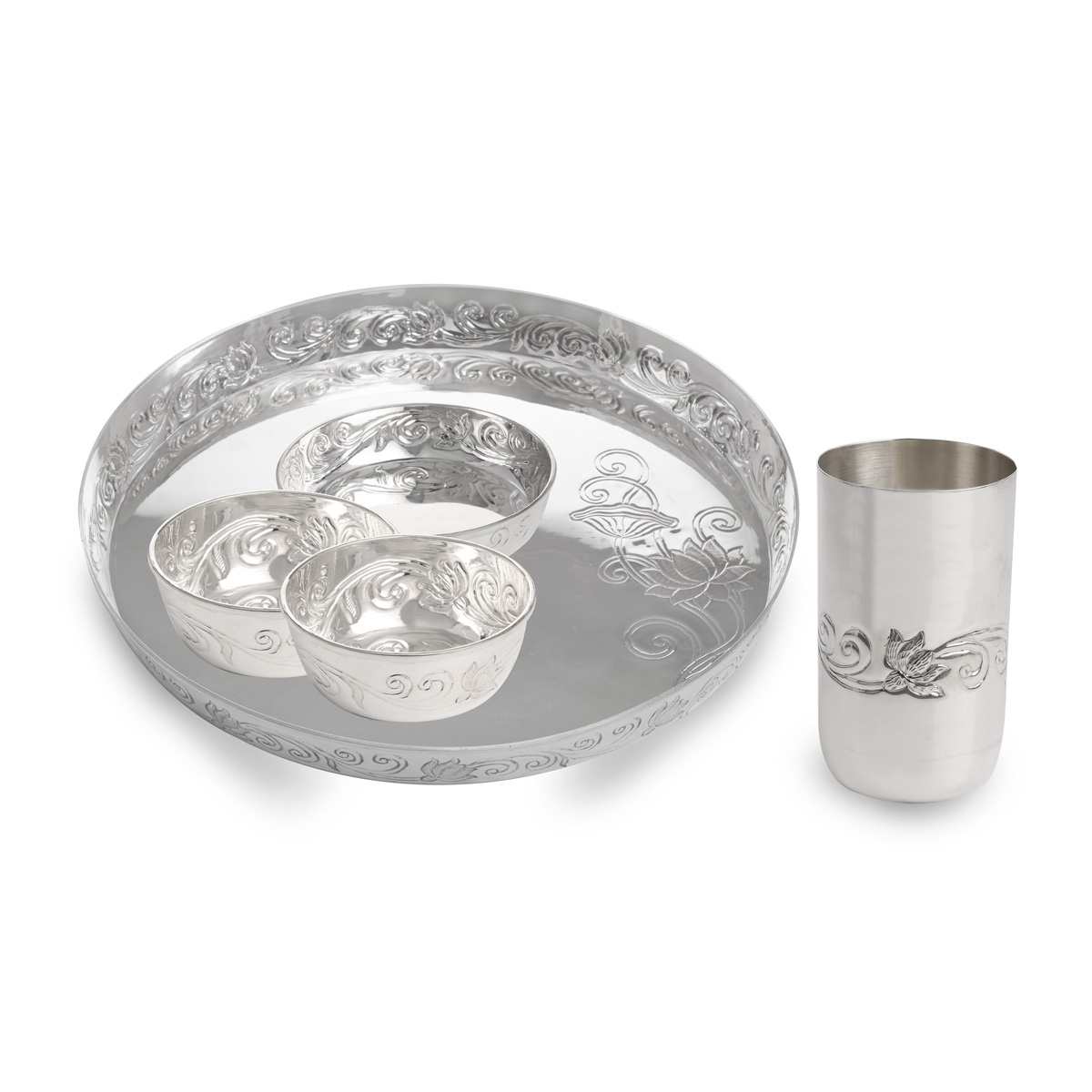 Silver Meals Plate Set