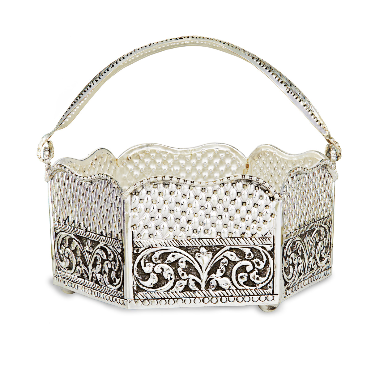 Flower Basket with Intricate Detailing