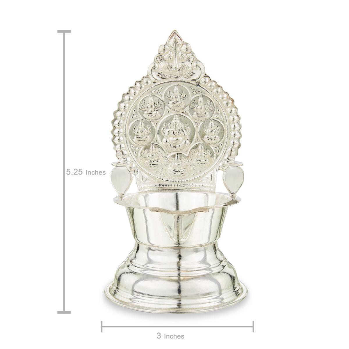 Silver Asta-Lakshmi Lamp!