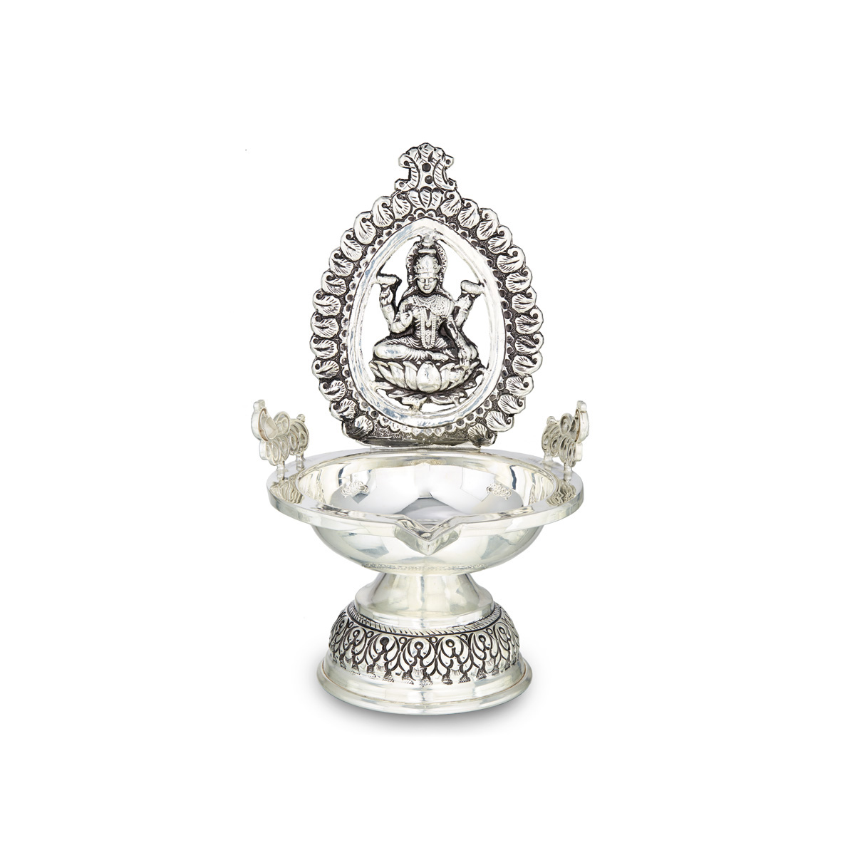 Antique Silver Lakshmi Lamp