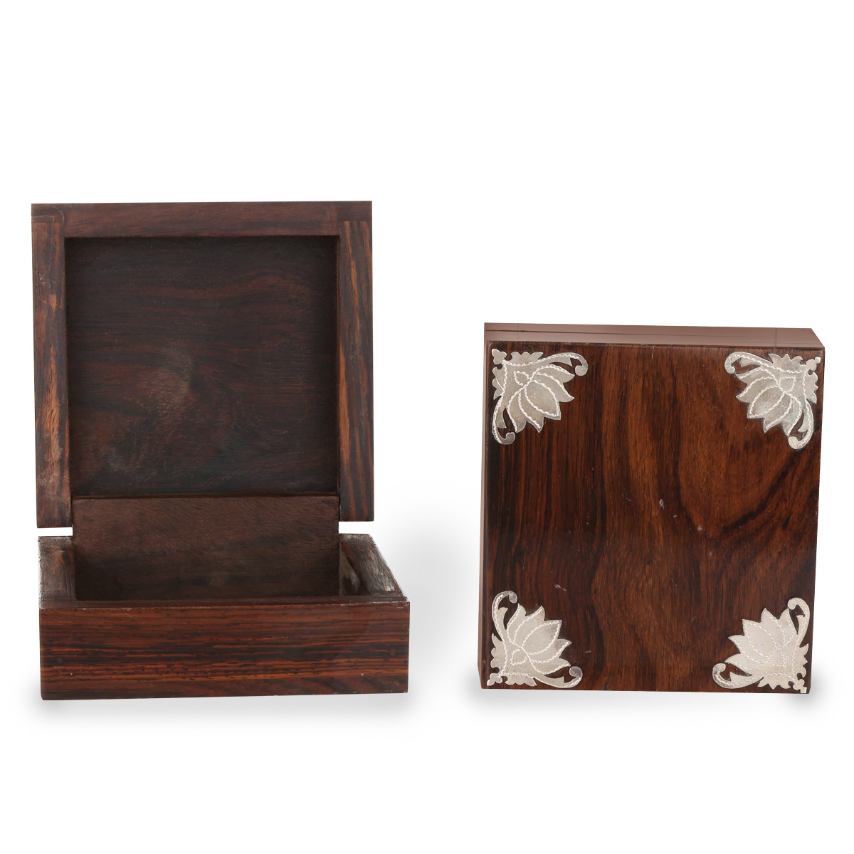 Silver Wooden Box